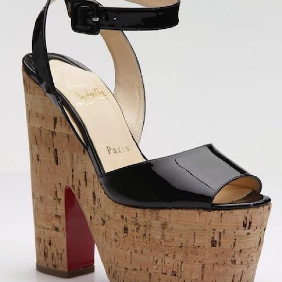 sale footaction Christian Louboutin Platform Cork Heels buy cheap finishline outlet purchase recommend online cheap new CvdfjtuP